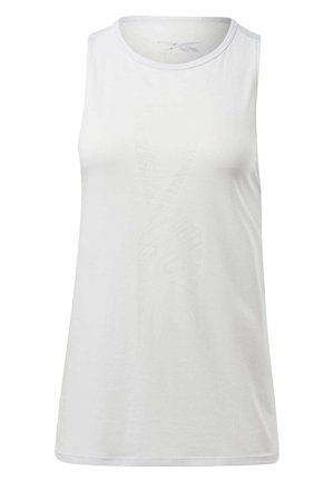 BURNOUT TANK TOP - Top - white