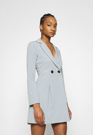 JACKET DRESS - Shift dress - grey