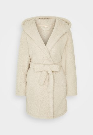 POM EAR SHERPA HOODED ROBE - Dressing gown - beige