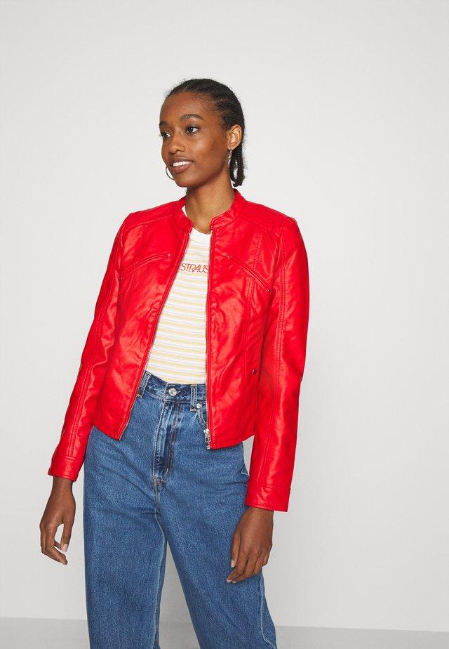 VMFAVODONA - Faux leather jacket - goji berry