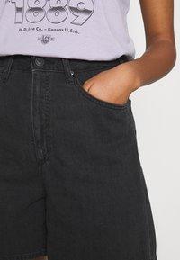 Lee - STELLA - Shorts di jeans - black duns - 4