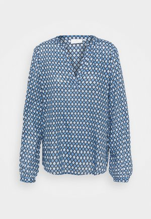 KASARY TILLY BLOUSE - Longsleeve - blue tone diamond