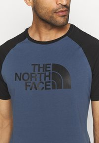The North Face - RAGLAN EASY TEE - T-shirt med print - vintage indigo - 3