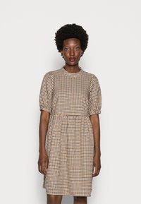 Love Copenhagen - CULLA DRESS - Day dress - brown check - 0