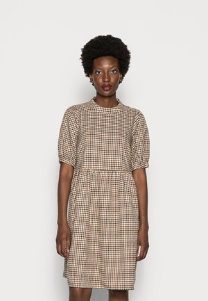 CULLA DRESS - Day dress - brown check