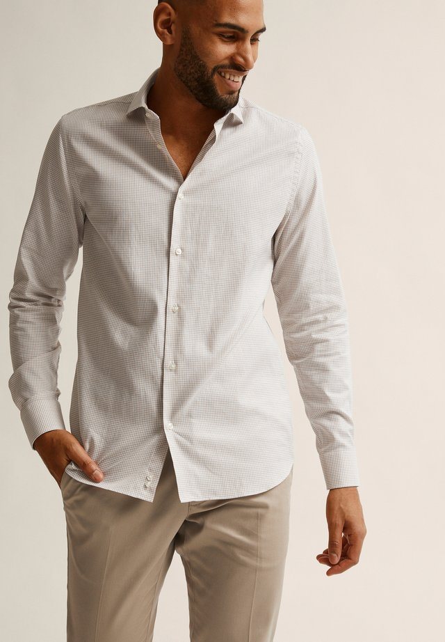 MARCO  - Chemise - beige check