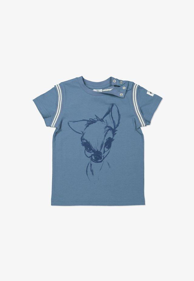 WITH BAMBI PRINT - Print T-shirt - moonlight blue