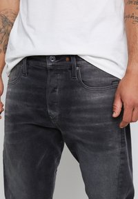 G-Star - SCUTAR 3D SLIM TAPERED - Jeans Tapered Fit - nero black stretch- antic charcoal - 6