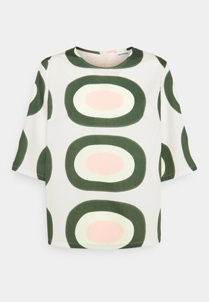 HYMYTEN PIENI MELOONI - T-shirt con stampa - green/yellow/pink