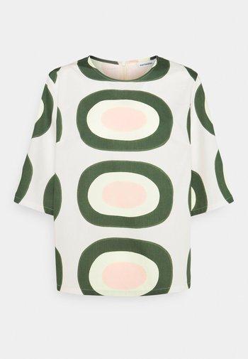 HYMYTEN PIENI MELOONI - Print T-shirt - green/yellow/pink