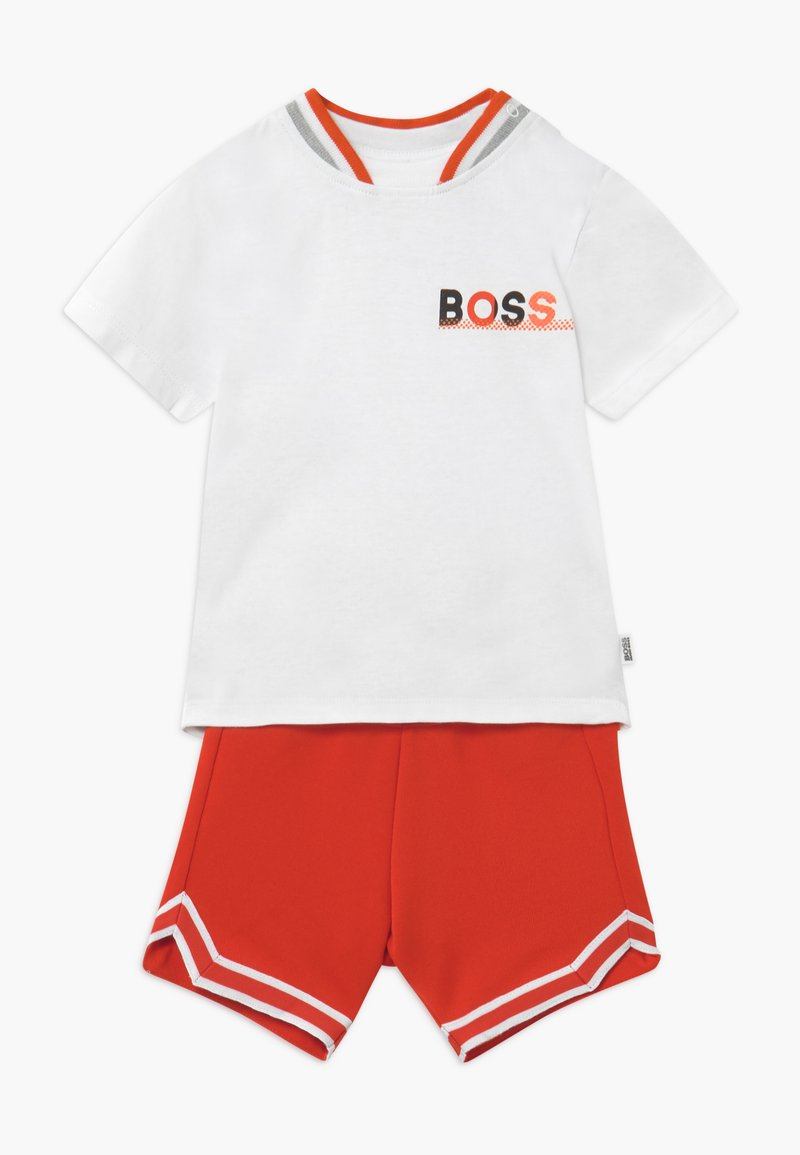 BOSS Kidswear - Kalhoty - blanc orange