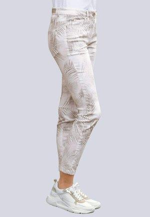 Slim fit jeans - haselnuss,braun,weiß