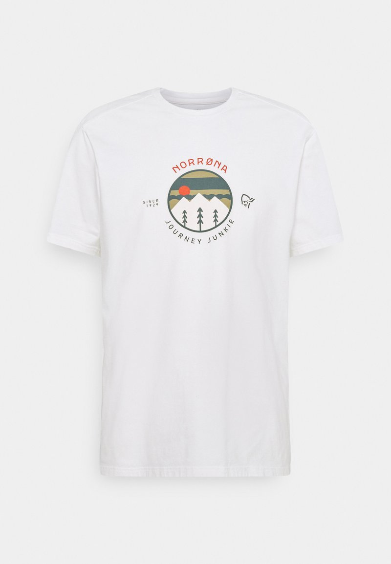 Norrøna - JOURNEY  - T-shirt print - pure white