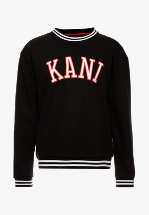 COLLEGE CREW - Sudadera - black/red/white
