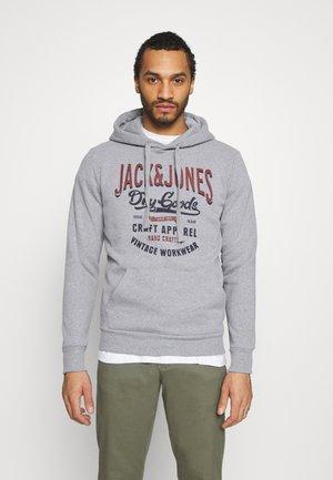 JJDENIM LOGO HOOD - Sweatshirts - mottled grey