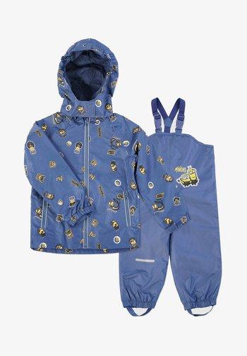 MATSCH UND BUDDELANZUG SET-Waterproof jacket - Rain trousers - marine print