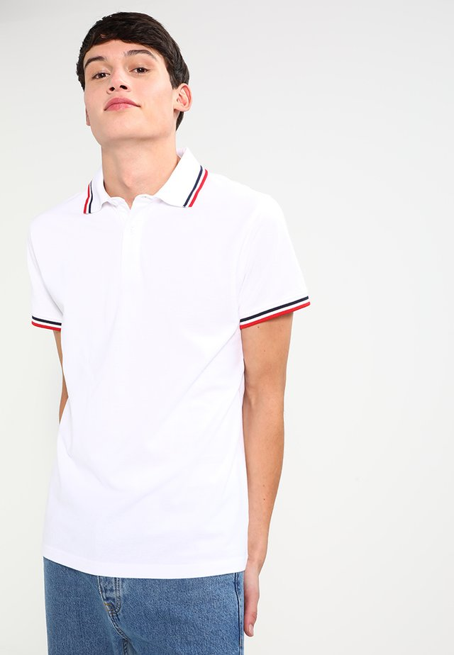 Polo - white/navy/firered