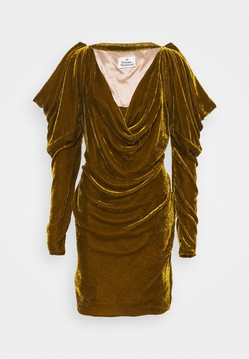 Vivienne Westwood - VIRGINIA MINI DRESS - Cocktail dress / Party dress - gold