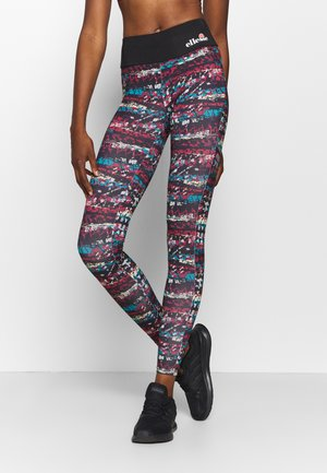 JYN - Leggings - black/burgundy