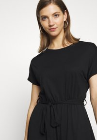 Even&Odd - BASIC - SHORT SLEEVES BOAT PLAYSUIT - Combinaison - black - 3