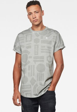 BADGES LASH AOP OD ROUND SHORT SLEEVE - Print T-shirt - cool grey badges