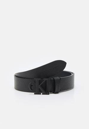 MONO HARDWARE ROUND BUCKLE - Belt - black