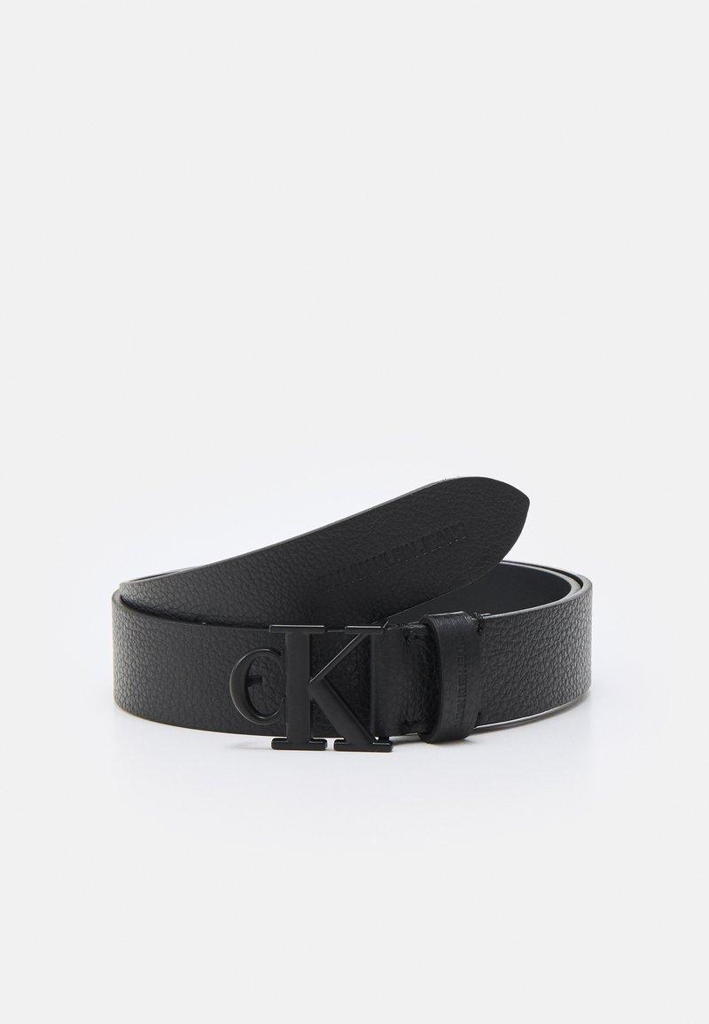 Calvin Klein Jeans - MONO HARDWARE ROUND BUCKLE - Belt - black