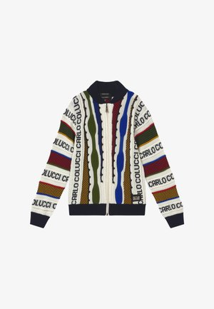 COLLEGE JACKET - Chaqueta de punto - white/multicolor