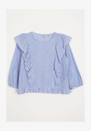 MIT VOLANTS - Blouse - blau