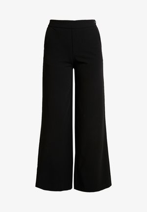 OBJCECILIE WIDE PANTS - Stoffhose - black