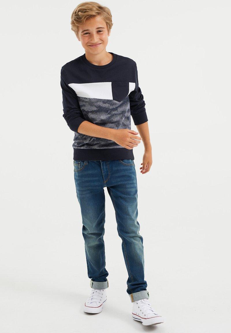 WE Fashion - MET DESSIN - Long sleeved top - dark blue
