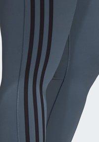 adidas Performance - BELIEVE THIS 3-STRIPES 7/8 LEGGINGS (PLUS SIZE) - Medias - green - 7