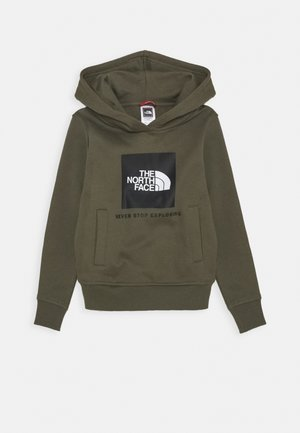 NEW BOX CREW HOODIE UNISEX - Bluza z kapturem - new taupe green