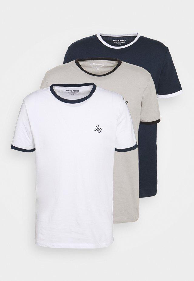JORWALTEE CREW NECK 3 PACK - T-shirt imprimé - white