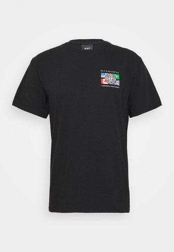 GLOBAL WAVE TEE - Print T-shirt - black