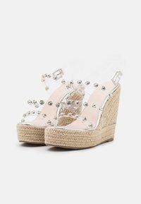 BEBO - VILLA - Platform sandals - clear - 2