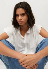 Mango - Button-down blouse - off white - 4