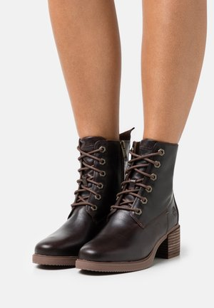 DALSTON VIBE BOOTIE ZIP - Lace-up ankle boots - mid brown