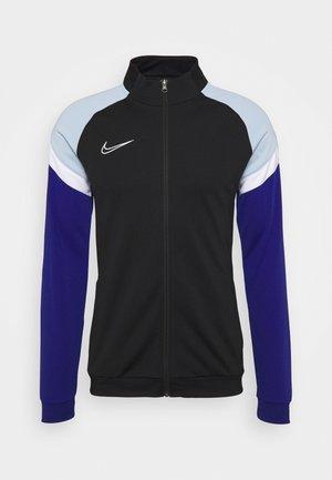 DRY ACADEMY - Sportovní bunda - black/deep royal blue/white