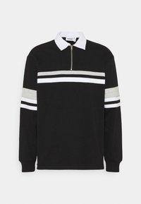 Weekday - OMAR HALFZIP - Polo shirt - black - 4