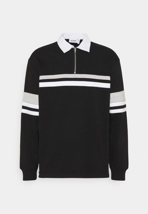 OMAR HALFZIP - Polo - black