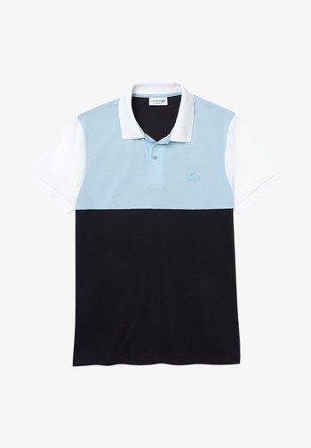 Poloshirt - bleu marine/bleu clair/blanc