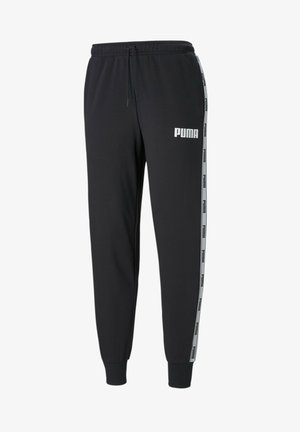 TERRY - Tracksuit bottoms - cotton black