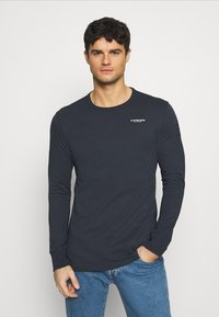G-Star - BASE R T L\S - Long sleeved top - compact jersey o - legion blue - 0