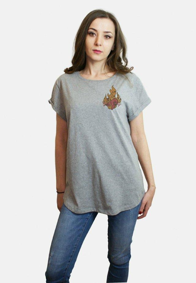 T-shirt print - mottled grey