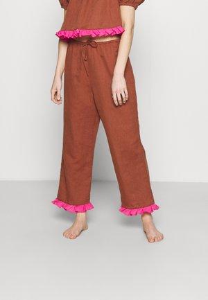 ALEXA PALAZZO - Pyjamabroek - medium brown