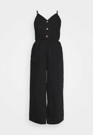 LEJA DUNGAREES - Jumpsuit - black dark