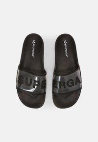 Superga - 1908 SLIDES CLEAR IDENTITY - Pantofle - black - 4