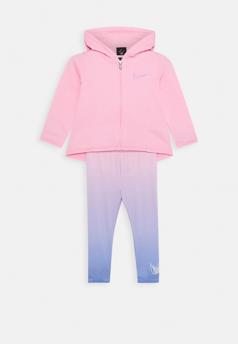 Nike Sportswear - THERMA SET - Mikina na zip - pink