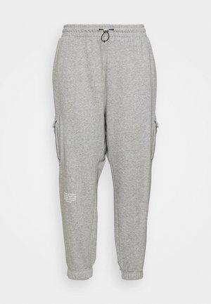 PANT - Cargobukse - grey heather/white